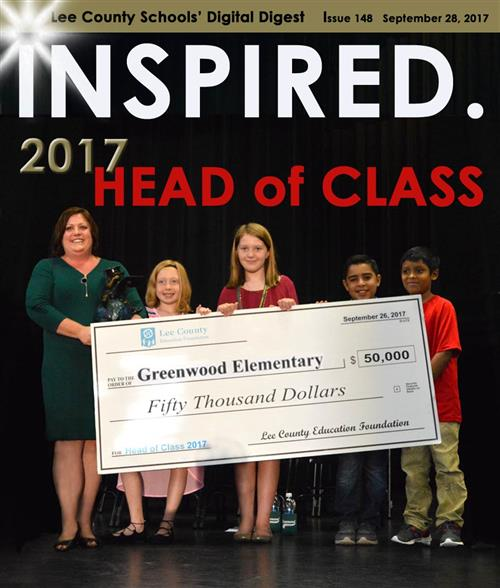 INSPIRED. 2017 Head of Class – Greenwood Elementary