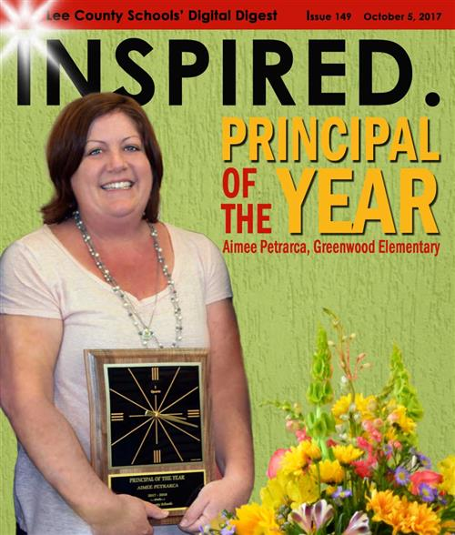 INSPIRED. Principal of the Year – Aimee Petrarca, Greenwood Elementary