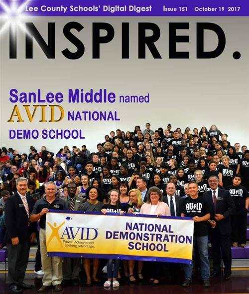 On Wednesday, another milestone for AVID in Lee County Schools was reached when students, staff and special guests celebrated