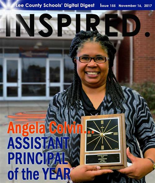 INSPIRED. Angela Colvin...ASSISTANT PRINCIPAL of the YEAR