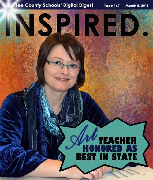 INSPIRED.  Art Teacher Honored as Best in State