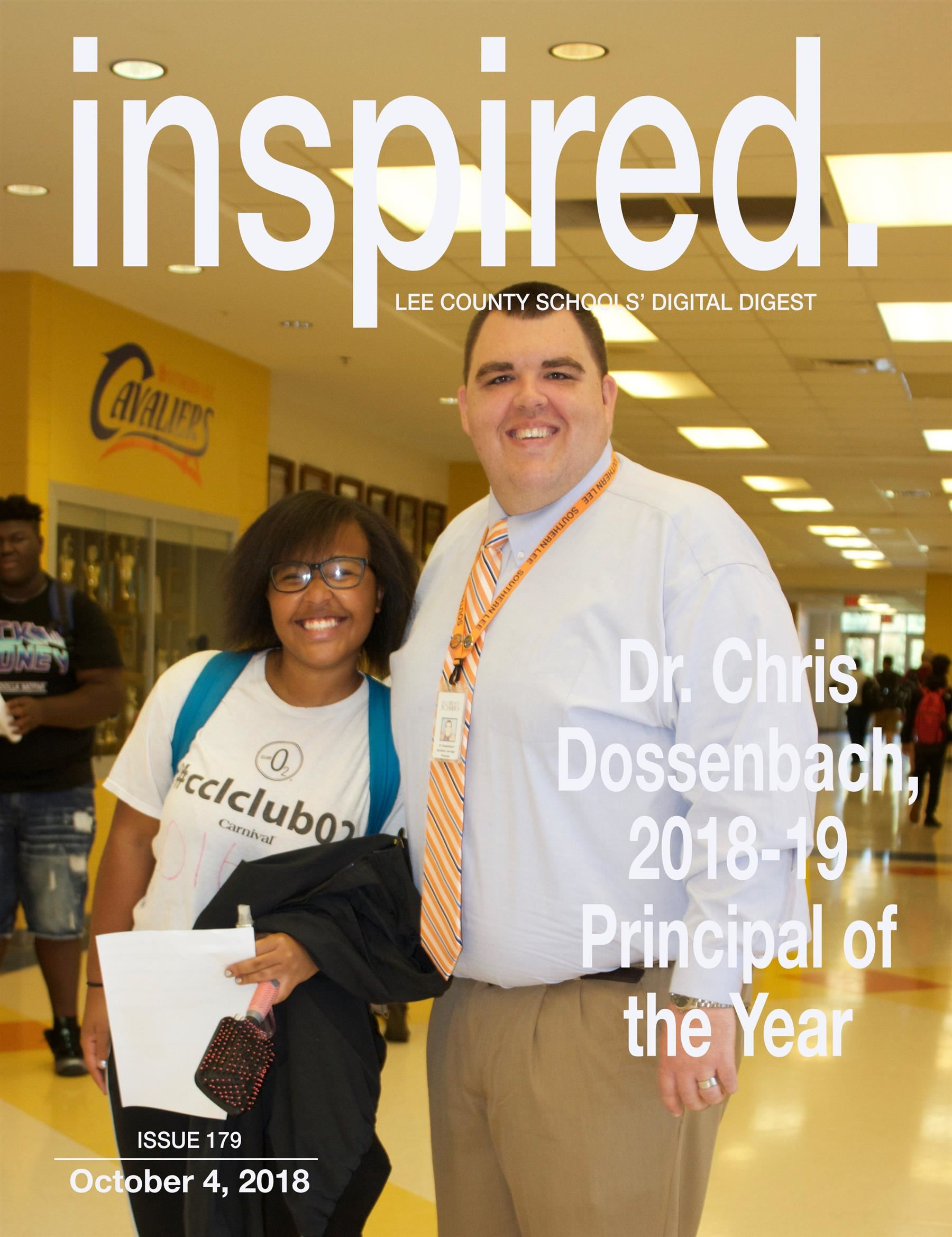 Dr. Chris Dossenbach, 2018-19 Principal of the Year