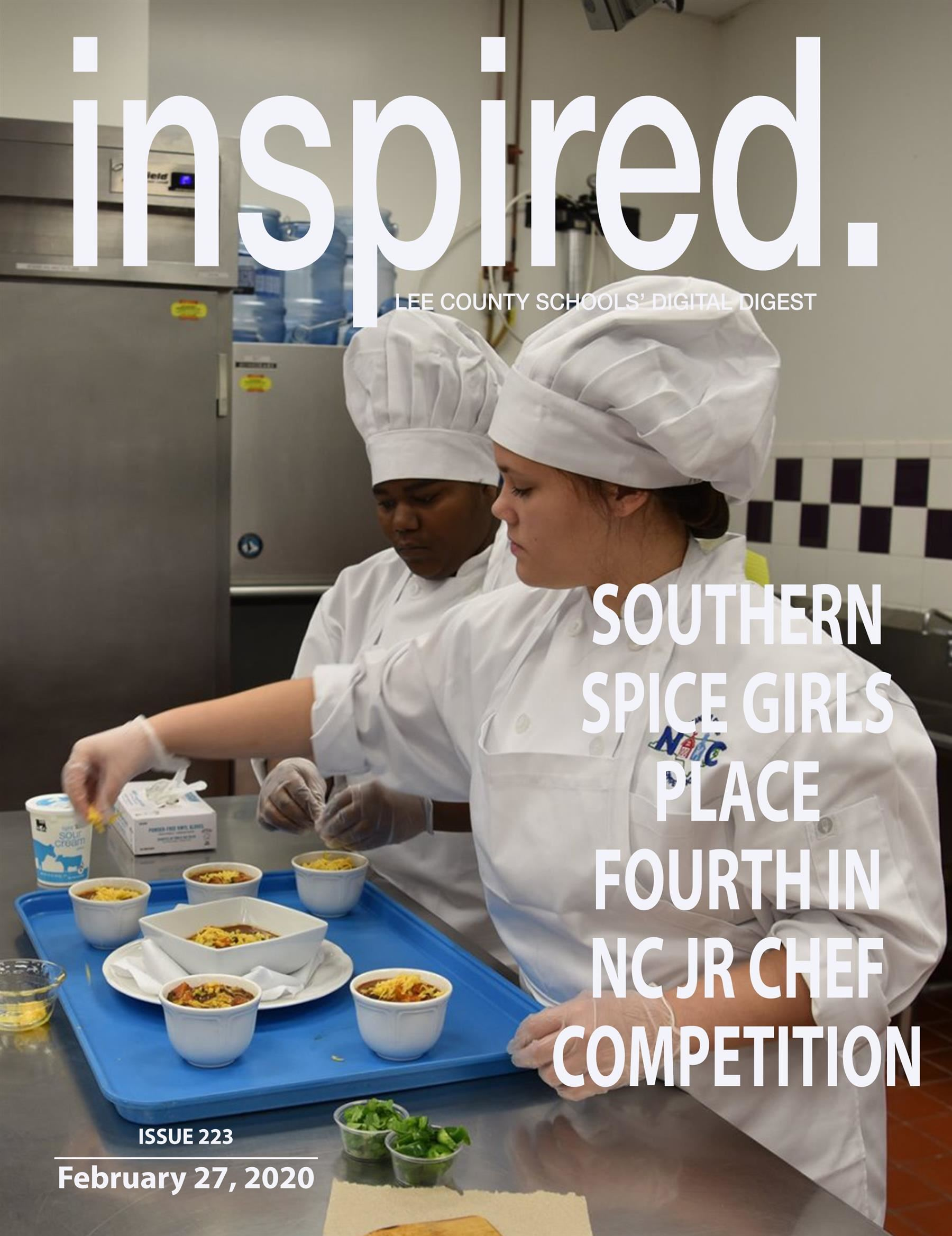 INSPIRED. Southern Spice Girls Place Fourth in NC Jr. Chef Competition