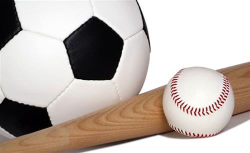 baseball and soccer