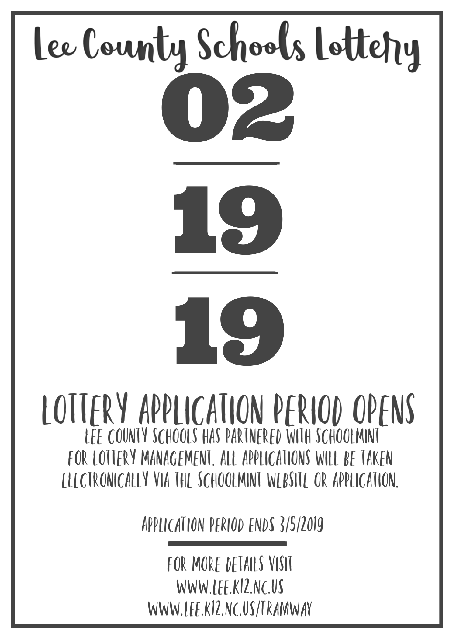 Lottery Save the Date