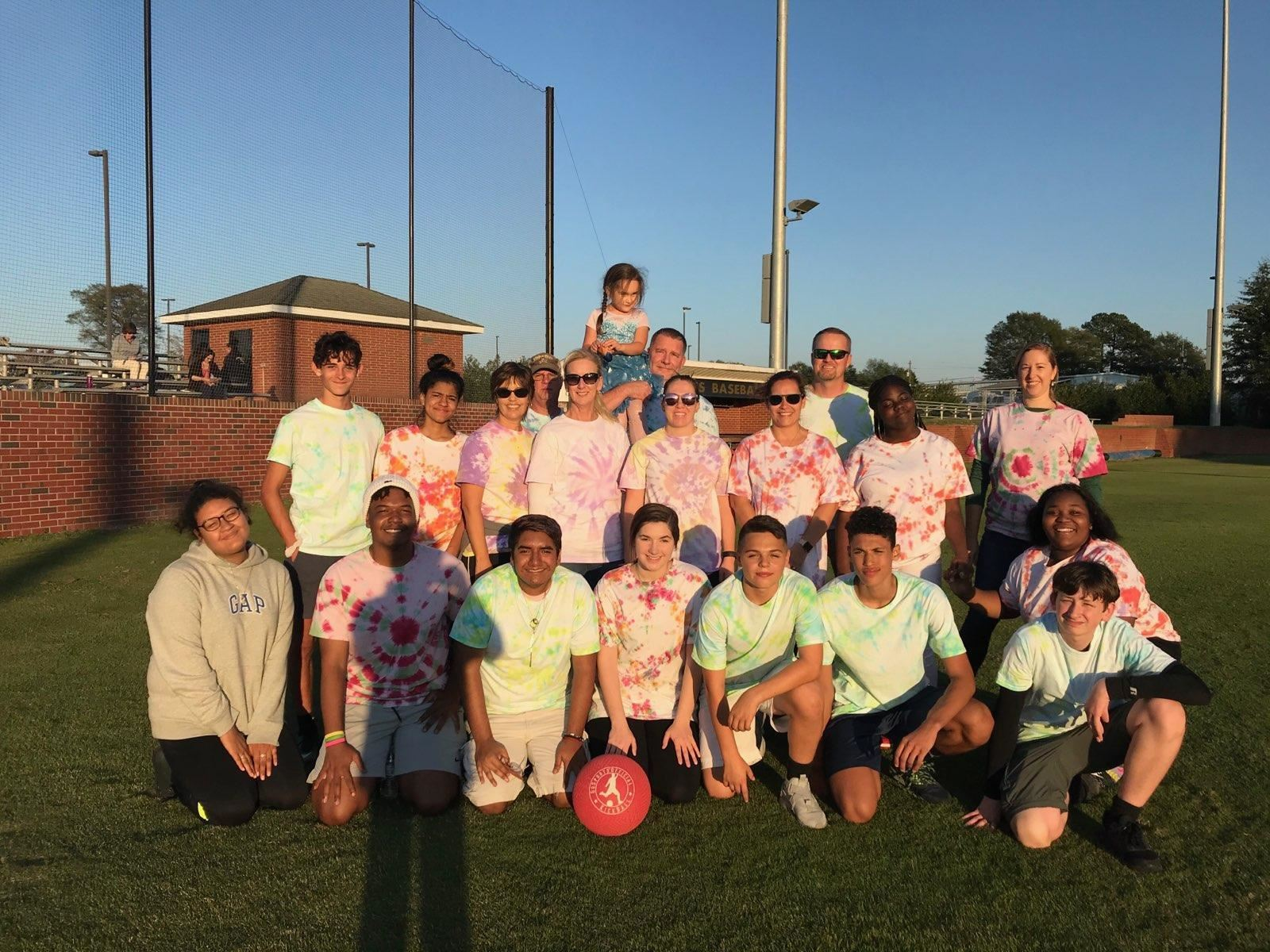 LCHS NAF AOHT kickball game participants