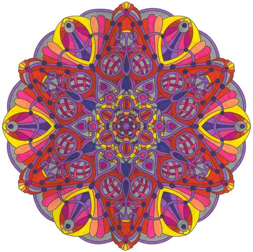 Pink and Yellow mandala
