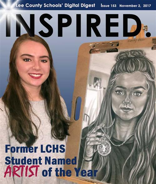 INSPIRED. Former LCHS Student Named Artist of the Year