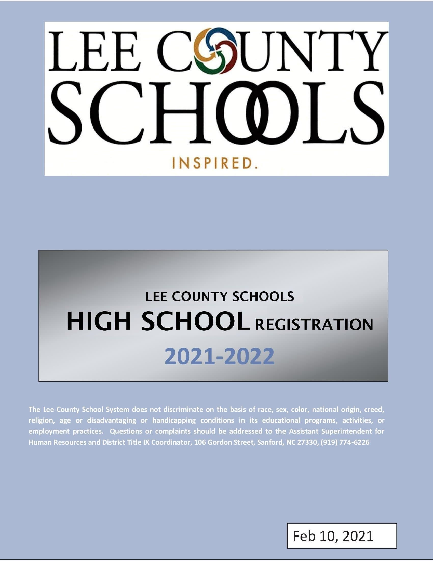 Lee County Schools 2021-2022 Registration Guide