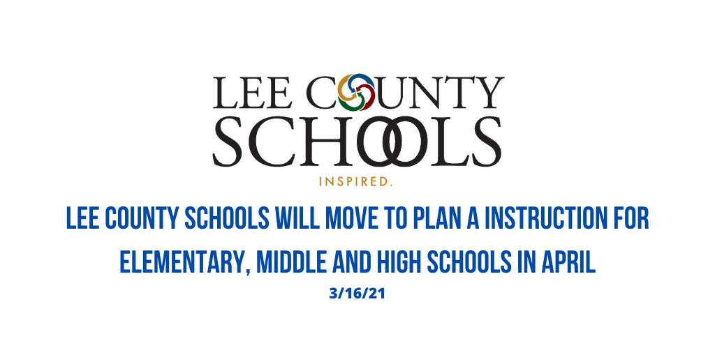 Lee County Schools move to Plan A for Elementary, Middle and High Schools