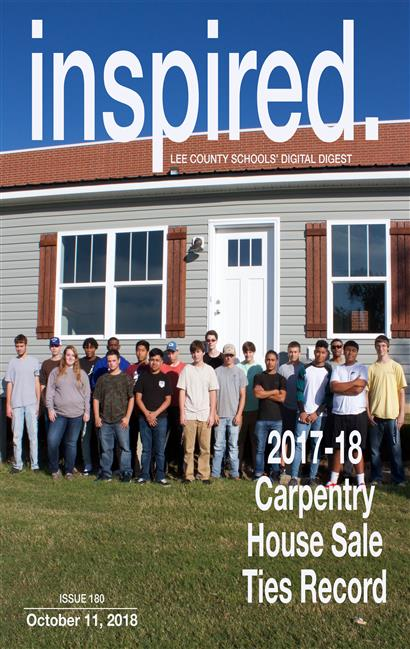 INSPIRED. 2017-18 Carpentry House Sale Ties Record