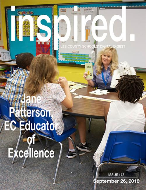 INSPIRED. Jane Patterson, EC Educator of Excellence.