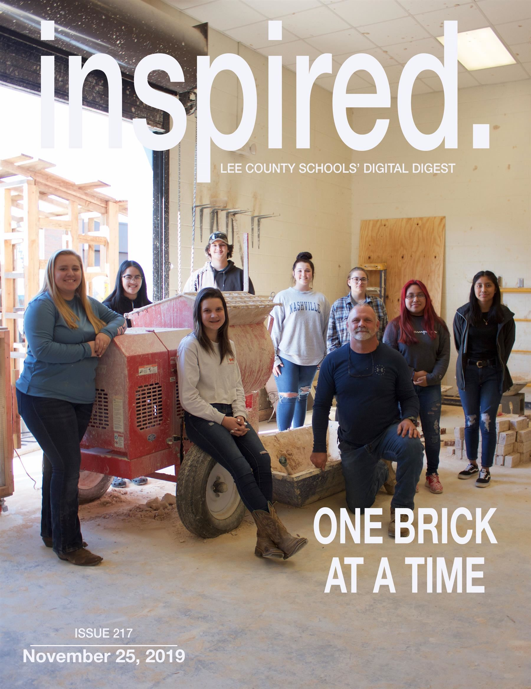 INSPIRED. One Brick At A Time