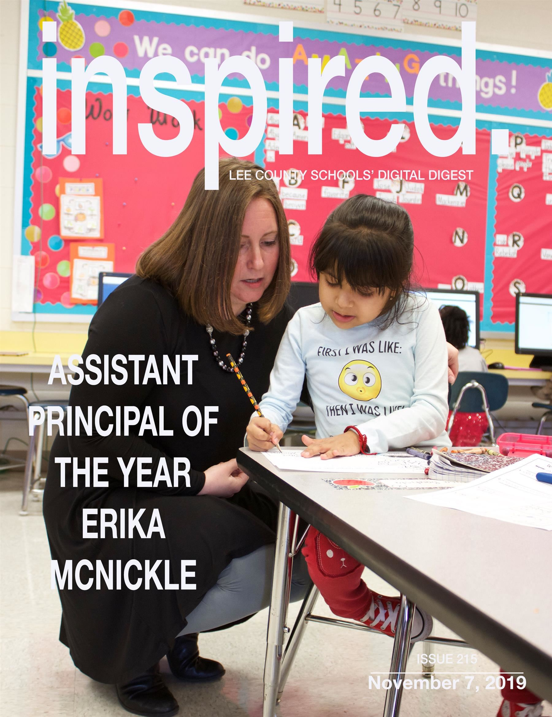 INSPIRED. Assistant Principal of the Year - Erika McNickle
