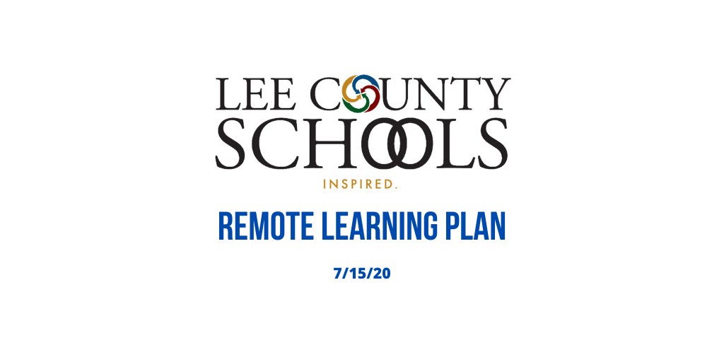Lee County Schools Remote Learning Plan