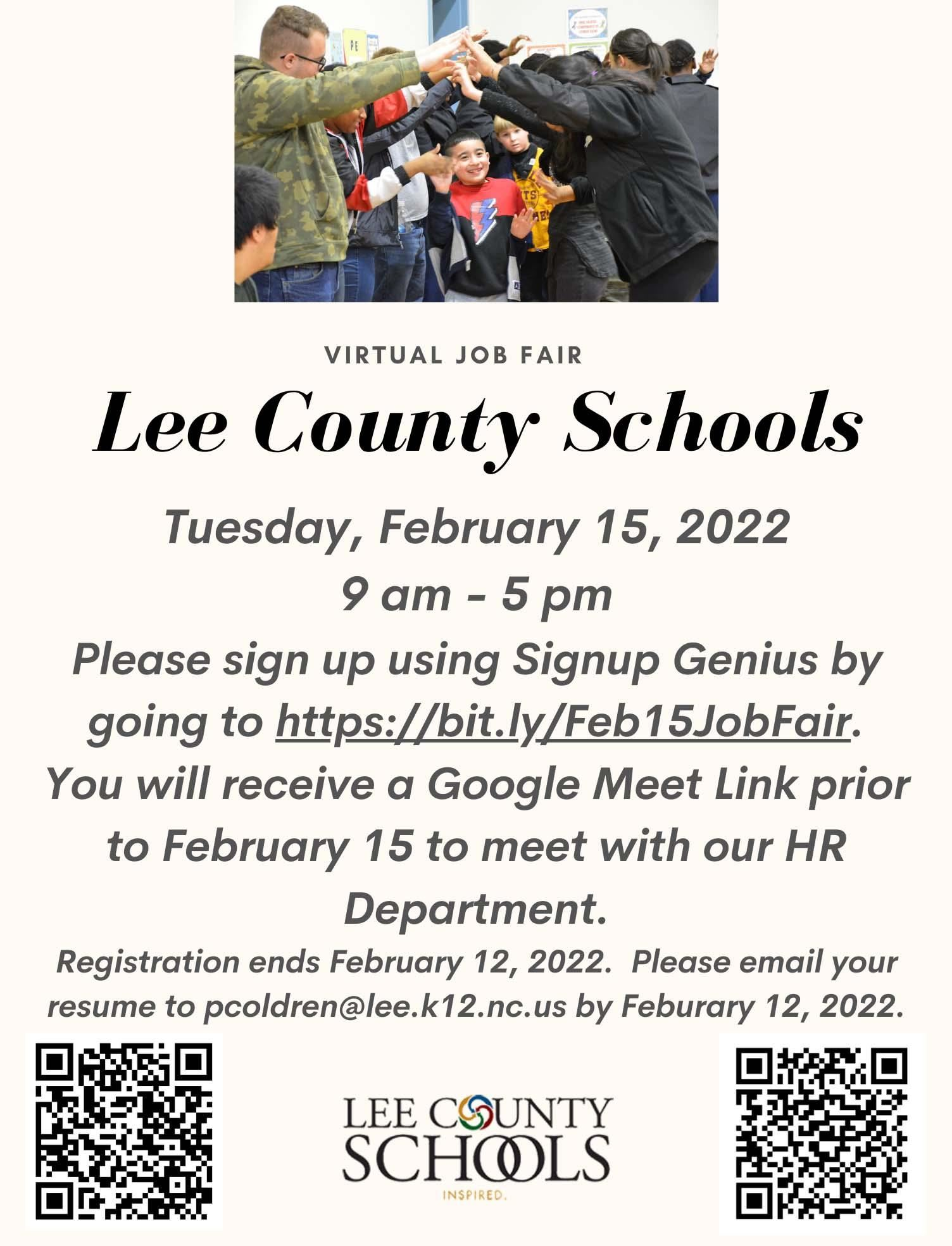 2021 Lee County Schools Virtual Job Fair