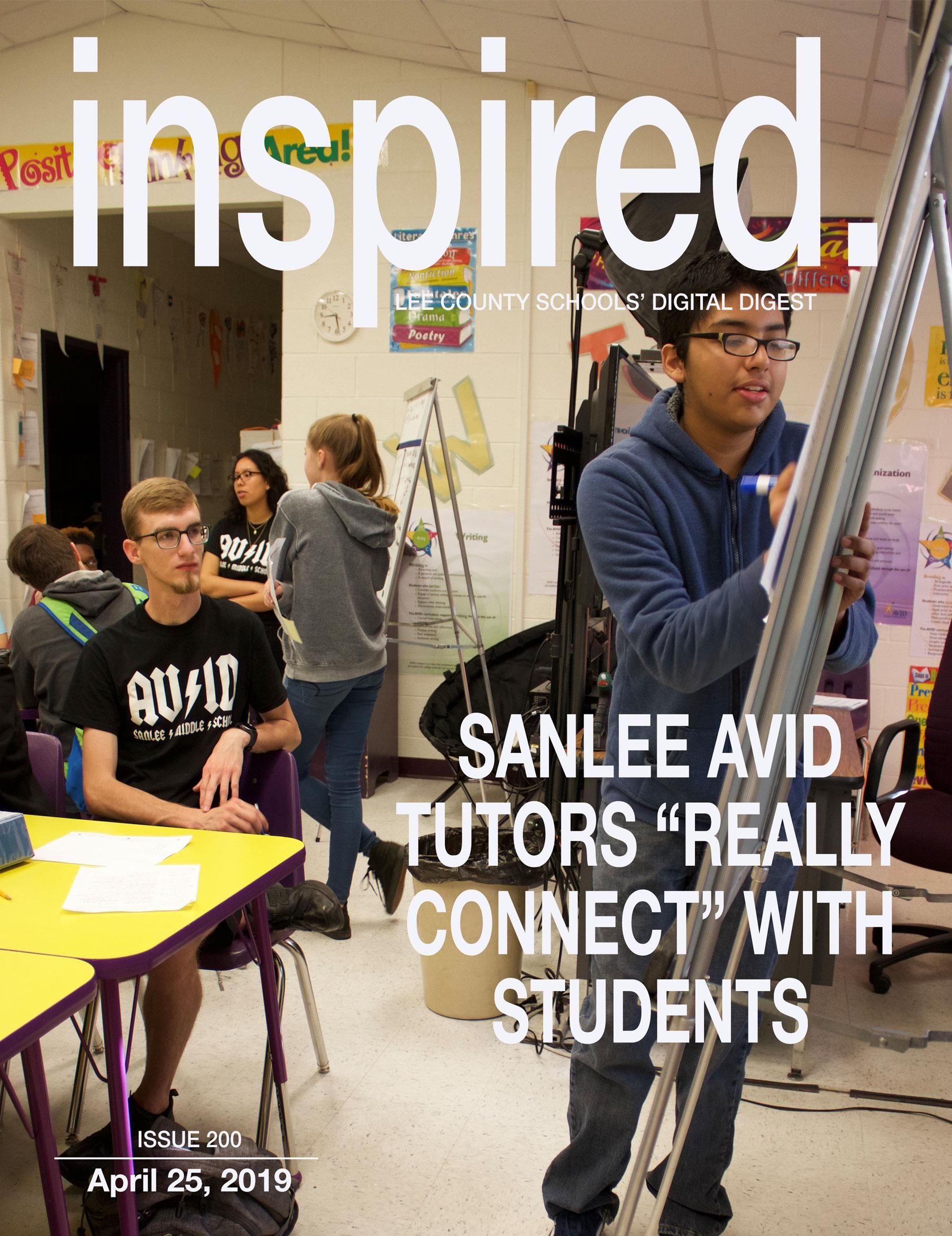 "INSPIRED. SanLee AVID Tutors ""Really Connect"" With Students"