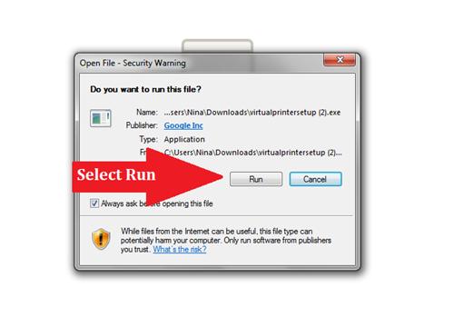 how to add google cloud printer to windows
